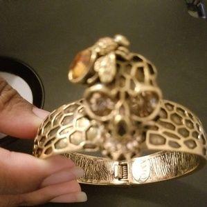 Alexander McQueen Honeycomb & Skull Hinge Bangal